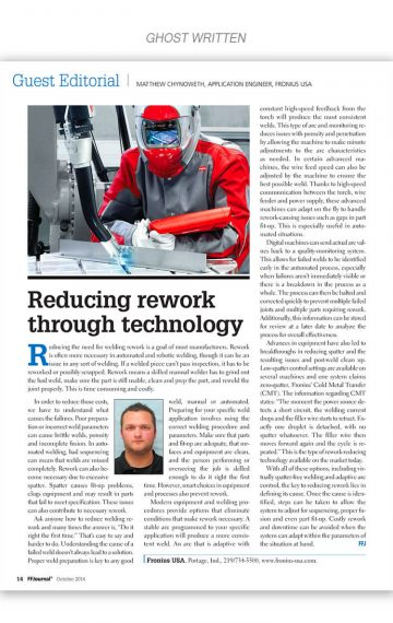 Reducing Rework Through Technology